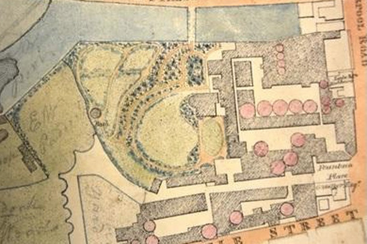 Plan of Enoch Wood's manufactory and garden, Courtesy of Stoke Archives/Museum and Art Gallery