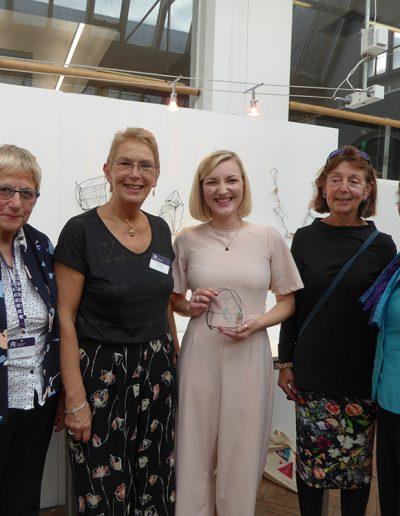 School of Jewellery Awards Evening, Birmingham 2017. BDFAS Members with Emily Howell, award winner
