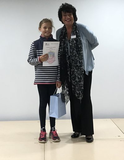Christie with National Young Arts Representative Denise Topolski