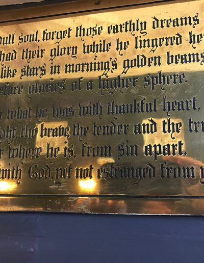 Poem by unknown poet at Wentworth Woodhouse